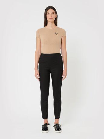 Pantalon en popeline de coton - Noir