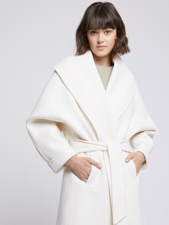 Wool and cashmere robe coat - Off white