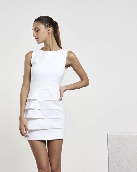 Robe en tricotine de coton - Blanc
