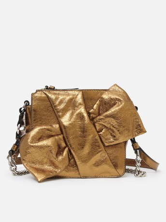 Bag in laminated leather - Or brillant