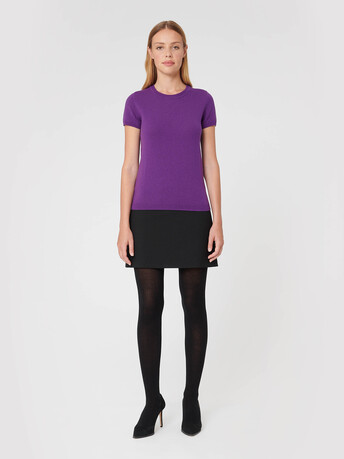 Wool and cashmere sweater - Amethyste