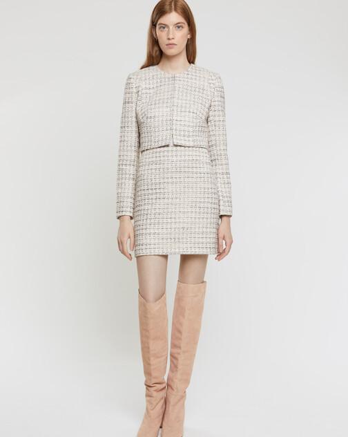 Jupe en tweed mini nœuds