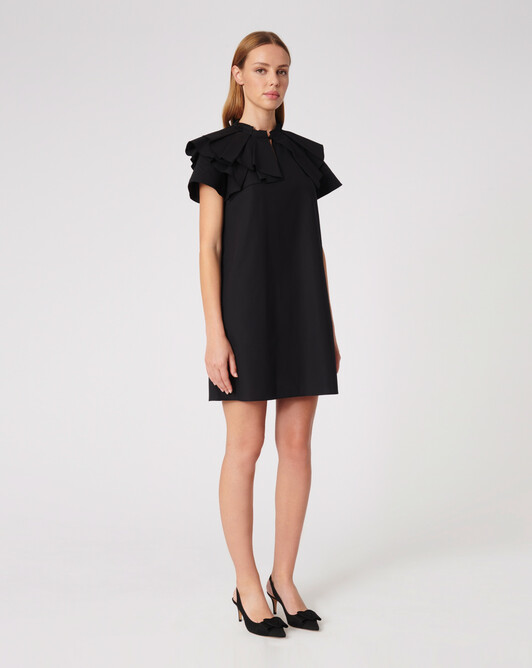Cotton poplin dress - Noir
