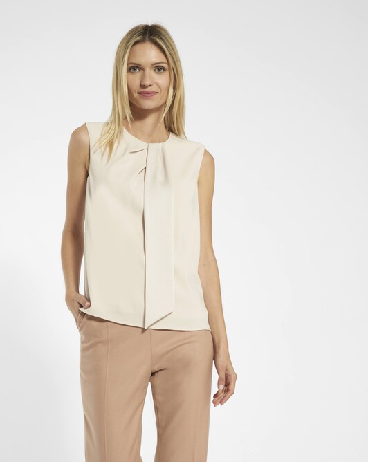 Top in satin-back crepe - Coquille