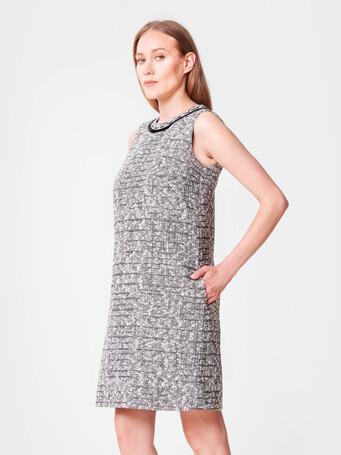 A-line tweed dress - Noir / blanc