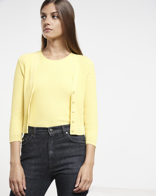Cardigan en viscose - Citron