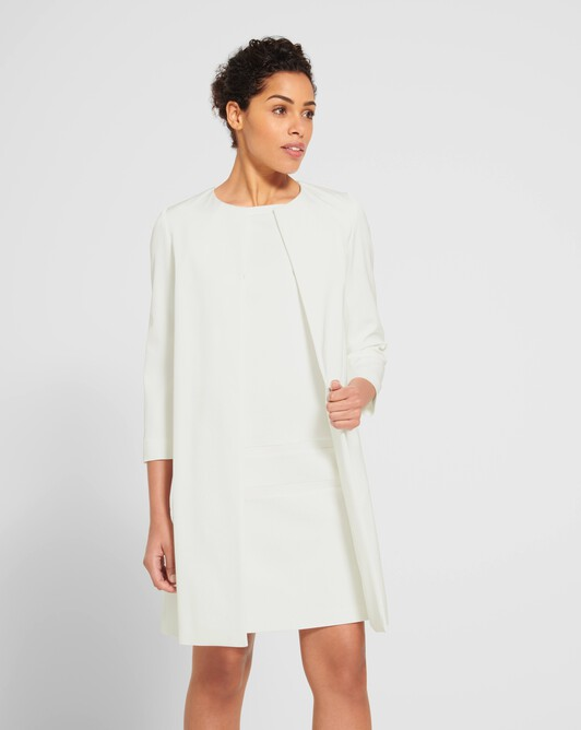 Stretch-ottoman coat - Off white