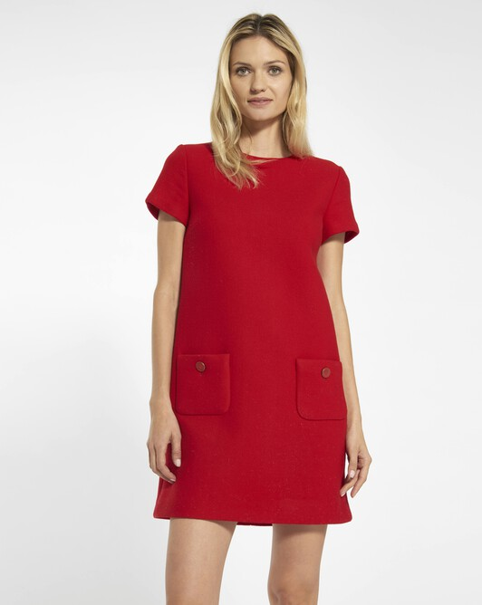 Woolcloth dress - Rouge