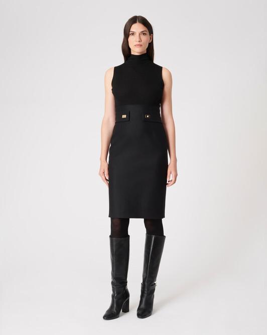WOVEN DRESS - Black / black