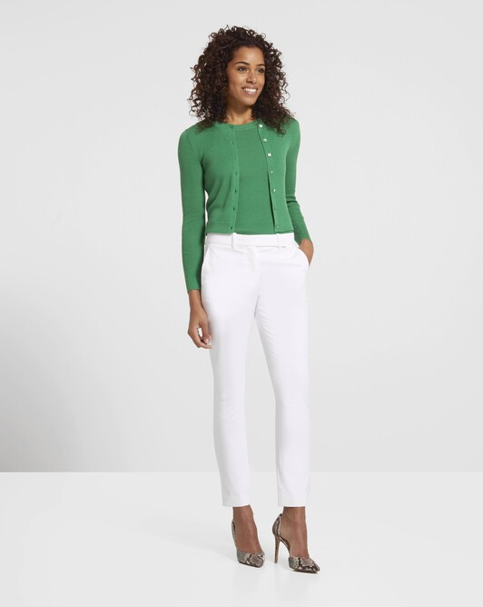 Pantalon en gabardine de coton - Blanc