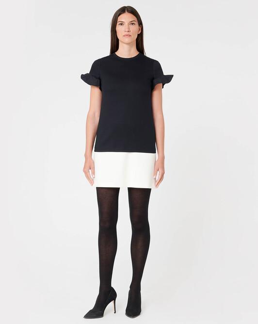 Cotton jersey top - Noir