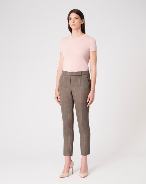 Prince of Wales checked jacquard pants