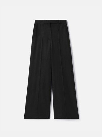 Pantalon en drap de laine - Noir