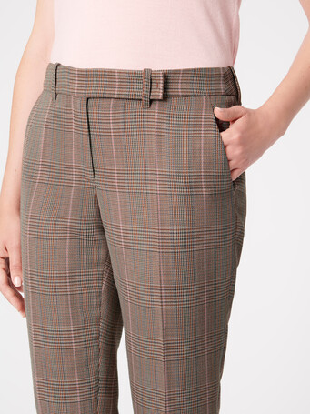 Prince of Wales checked jacquard pants - multicolor