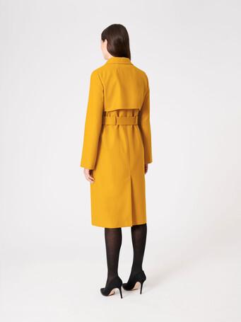 Manteau en drap de laine - Ocre