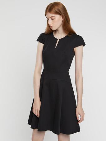 Cotton couture dress - Noir