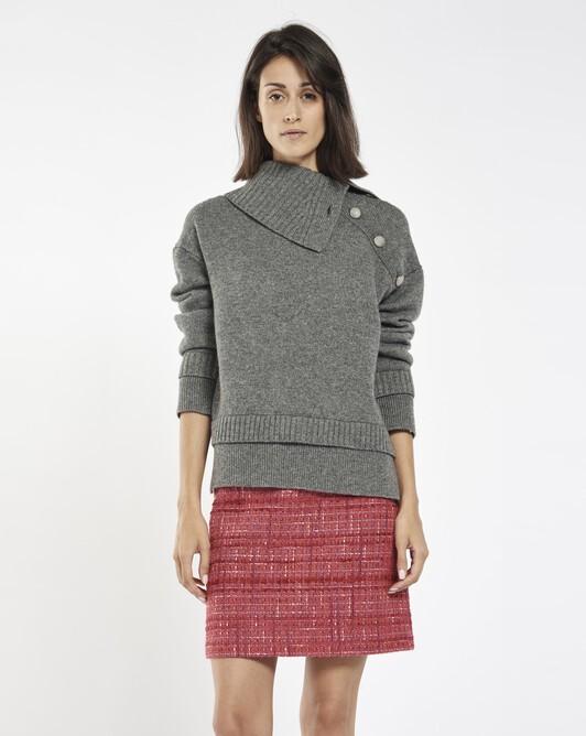 Pull en laine mélangée cachemire - Anthracite