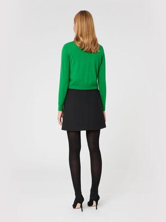 Merino wool cardigan - Emeraude