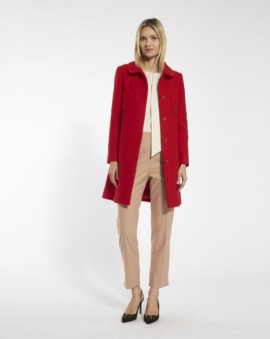 Woolcloth trousers - Beige