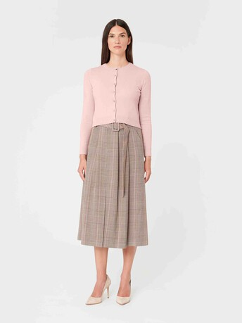 Wool and cashmere cardigan - Rose pale