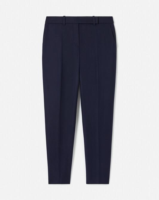 Pantalon en drap de laine - Marine