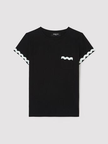 Tee-shirt en jersey de coton - Noir