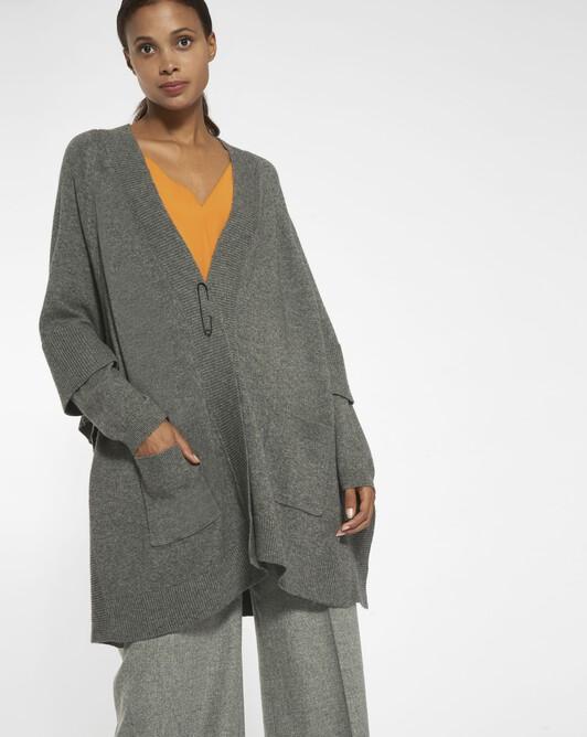 Manteau en laine mélangée cachemire - anthracite