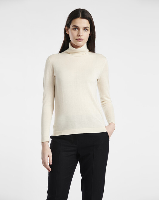 Silk cashmere sweater - Ivory