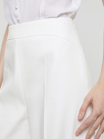 Skinny couture cotton pants - White