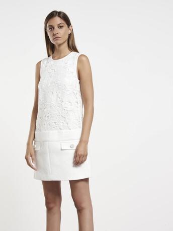 Robe en gaze de coton - Blanc