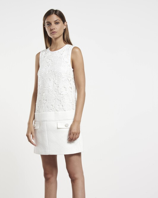 Cotton-gauze dress - White