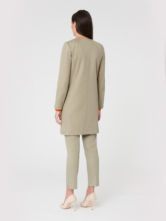 Cotton coat - Taupe