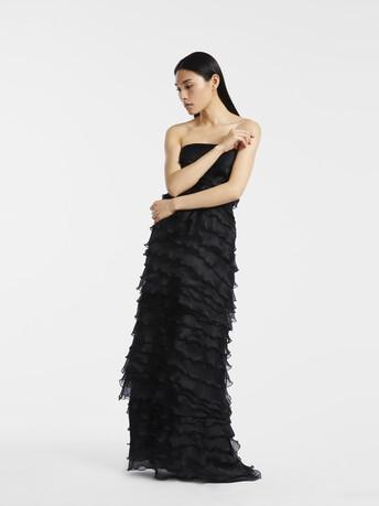 Robe longue en organza - Noir