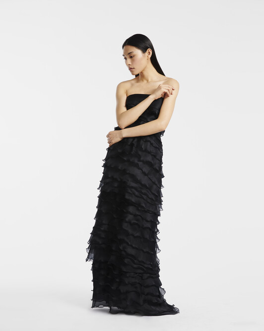 Gown in organza - Noir