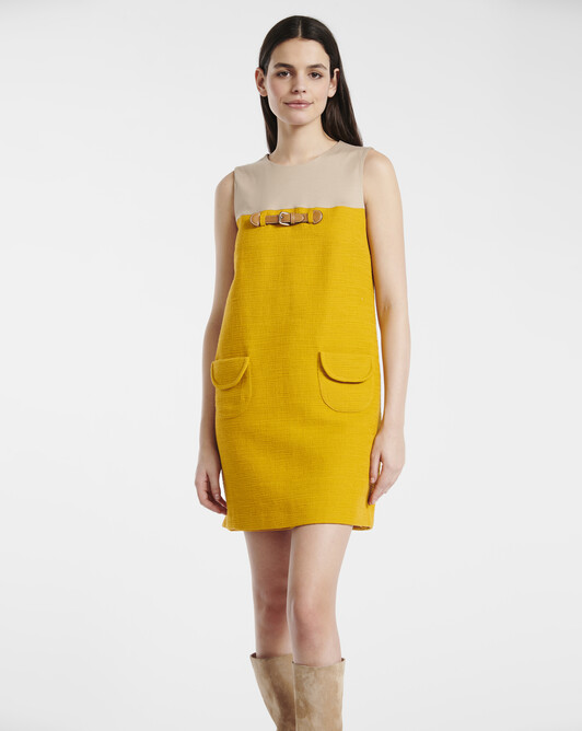Dress in cotton dobby  - Bouton d'or