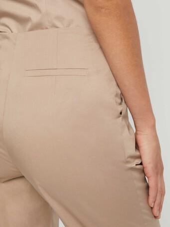 Pantalon en popeline de coton stretch - Beige