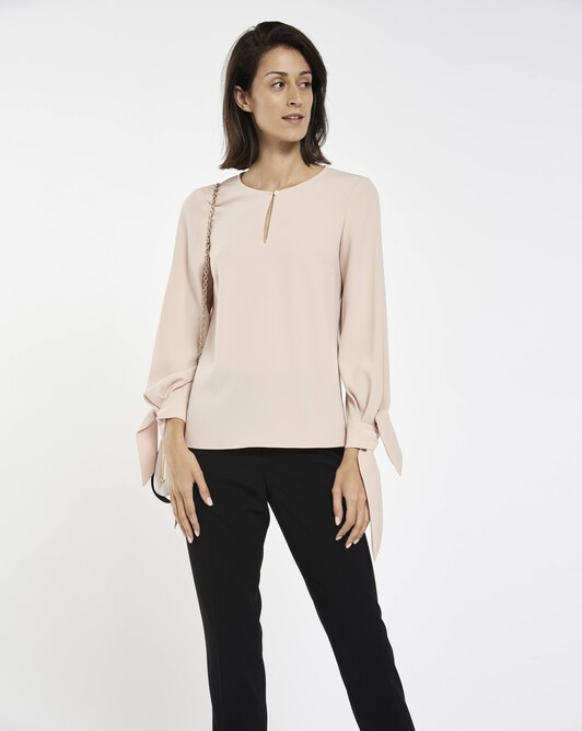 Satin-back crepe top - Pale pink