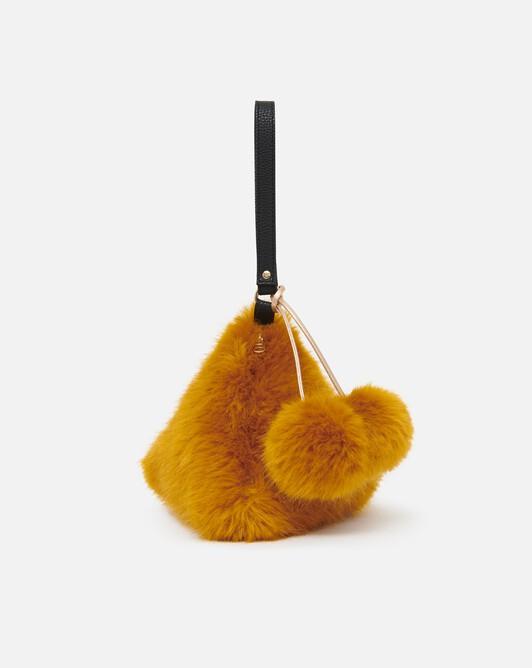 Mini sac porte clé en renard coloré - Safran