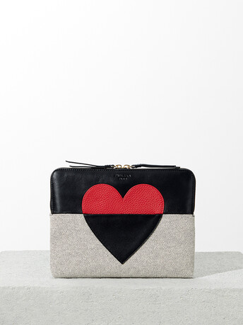 Chequered canvas wallet - Multicolore