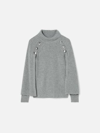 Pull en laine cachemire - Souris