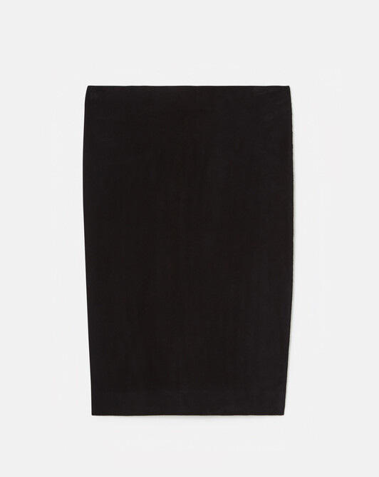 Lambskin leather skirt - Navy blue