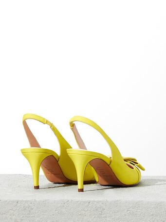 Escarpins en ottoman stretch - Lime
