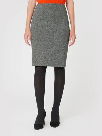 Jupe en tweed - Noir