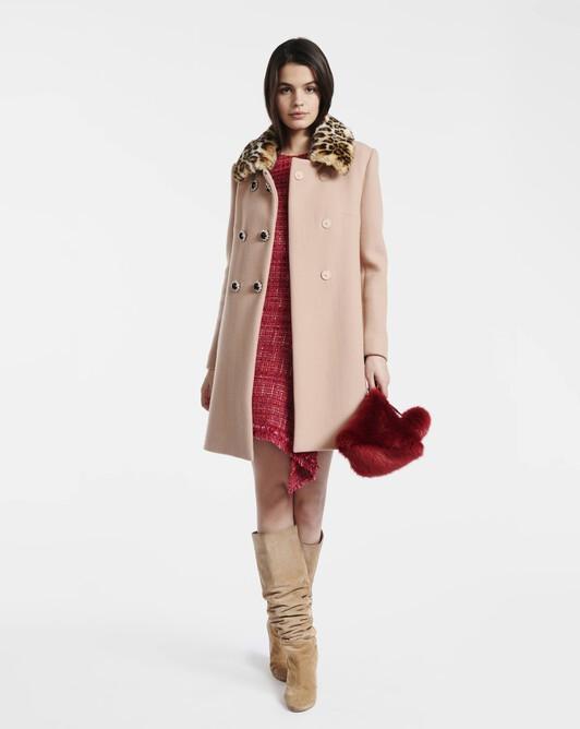 Manteau en drap de laine - Beige
