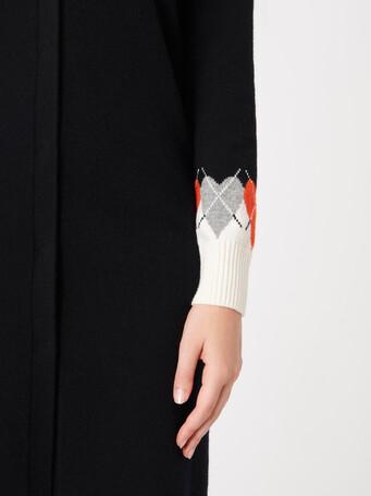 Cardigan en laine et cachemire - Noir / cornaline