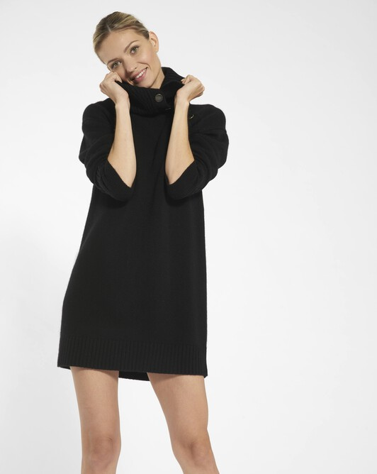 Cashmere wool dress - black