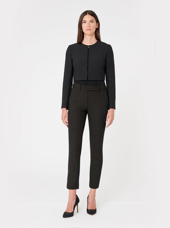 Stretch-tricotine pants - Noir