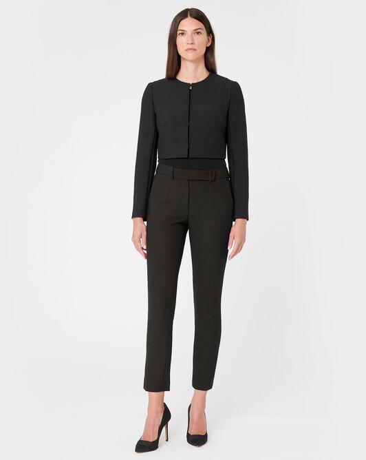 Pantalon en tricotine stretch - Noir