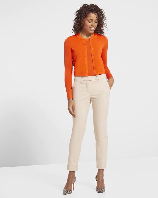 Cardigan classique en laine et cachemire - Orange