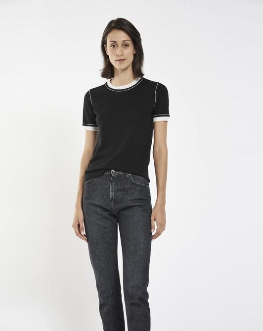 Merino sweater - Black / off white